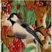 Chickadee with Red Berries #SD-036