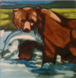 Grizzly Bear Tile