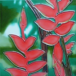 Heliconia Flower Tile