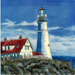 Lighthouse with Red Roof House #BD-2032